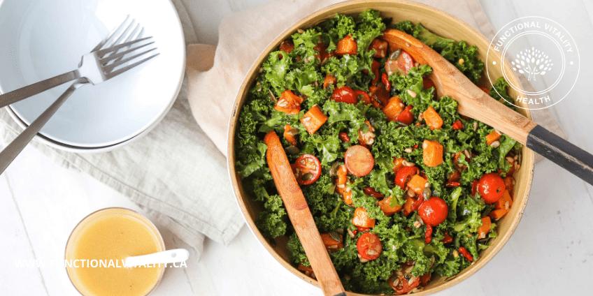 Roasted Squash, Kale and Goji Berry Salad