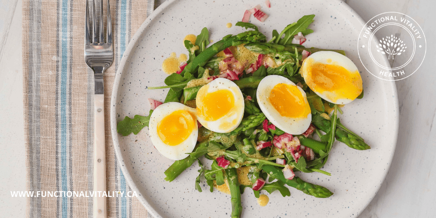 Asparagus, Egg and Arugula Salad